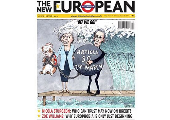 Philip Hammond Theresa May brexit cartoon