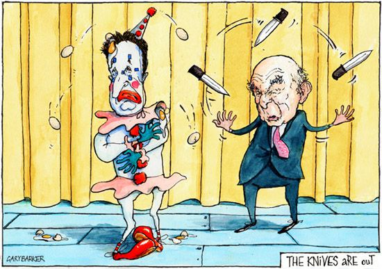 Vince Cable and Nick Clegg cartoon