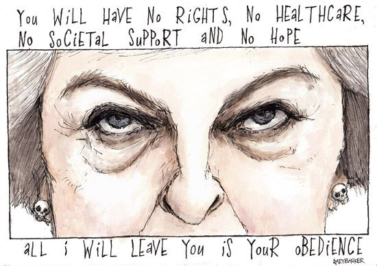 Theresa May cartoon