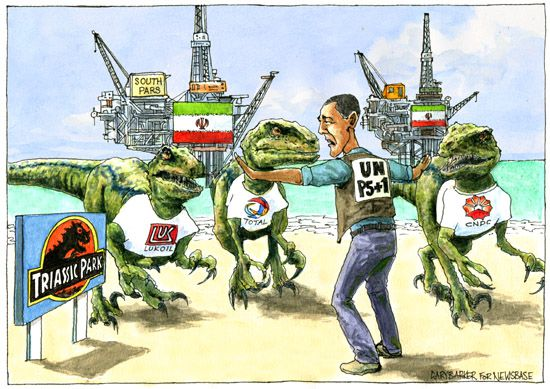 Big oil Barack Obama cartoon