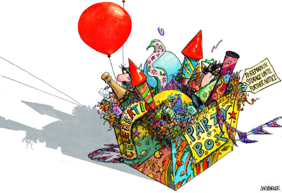 Box of Party Tricks illustration