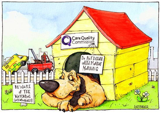 CQC NHS Watchdog cartoon