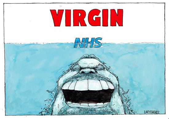 Richard Branson, NHS, cartoon
