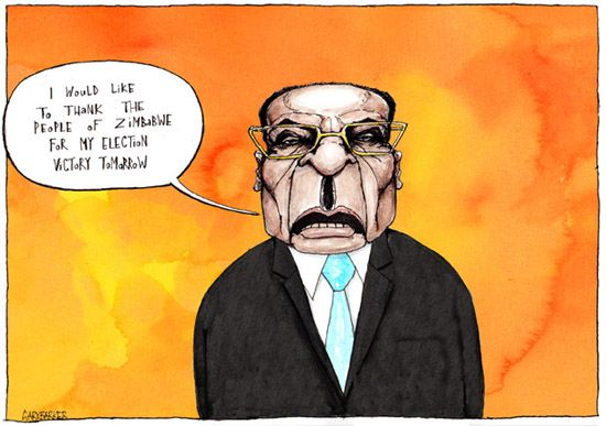 Robert Mugabe cartoon