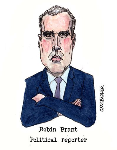 Robin Brant caricature cartoon
