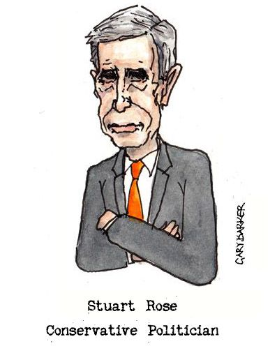 Stuart Rose caricature cartoon