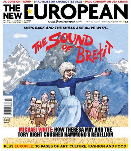 Theresa May cartoon Brexit European