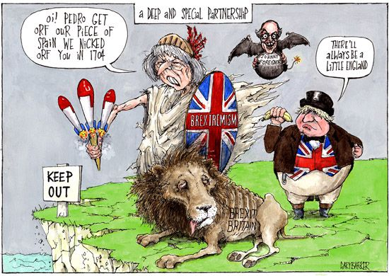 Brexit Gibraltar Theresa May cartoon