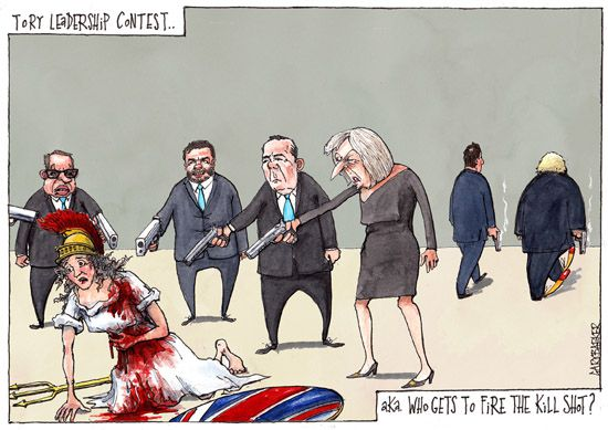 Britannia Theresa May cartoon
