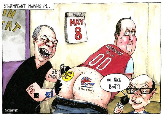 Nick Robinson Nigel Farage David Cameron cartoon