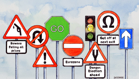 UK road signs illustration