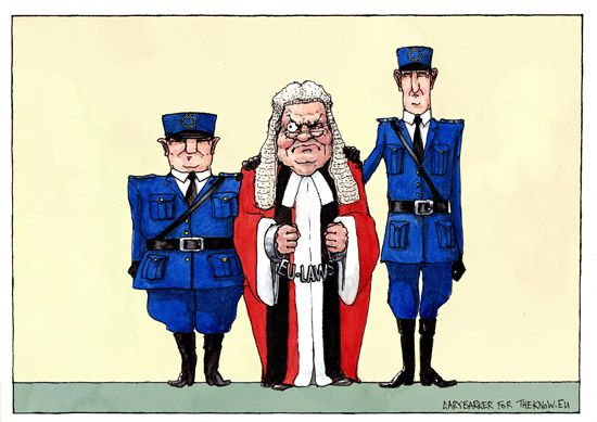 UK Judge EU laws cartoon