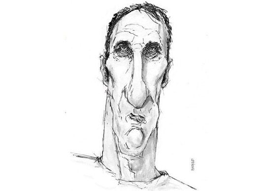 Will Self caricature
